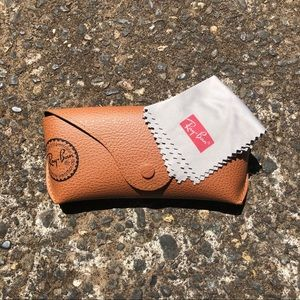 Ray Ban leather case only W/ cleaning cloth